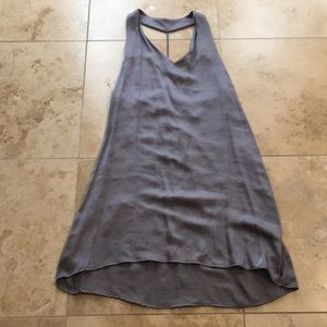 Tyche Gray Slip Dress